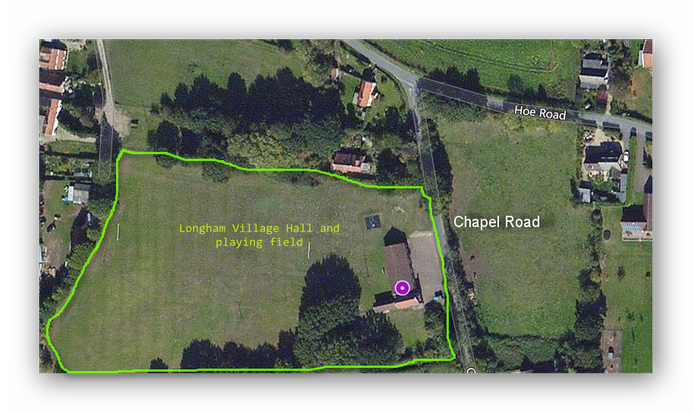Longham Village Hall satellite view
